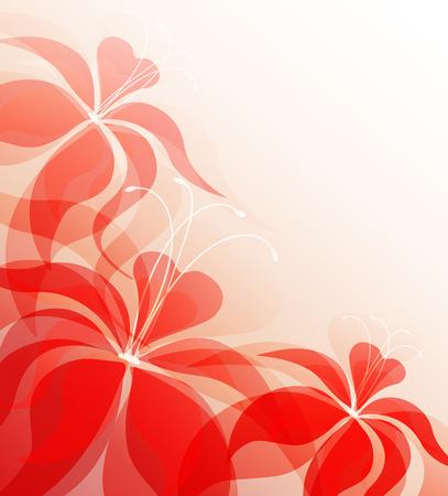 sfondo romantico: Sfondo romantico con fiori di gigli, vettore Vettoriali