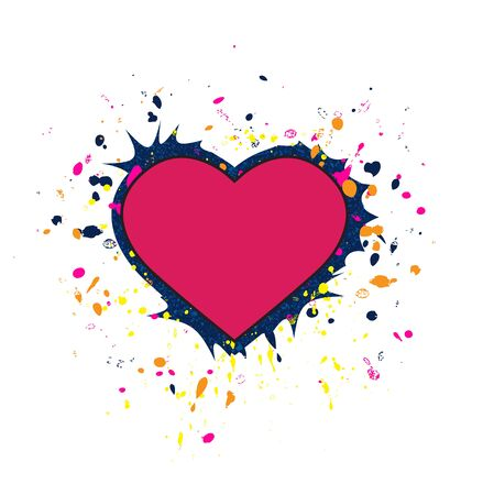 pink hearts: Vector pink hearts splashed with different colors Illustration