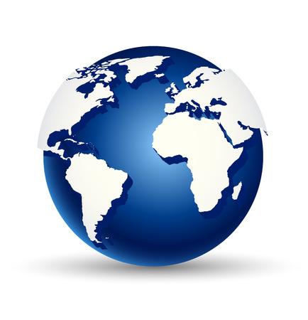 digital world: Vector illustration of abstract digital world globe