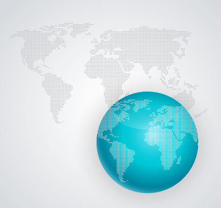 digital world: illustration of abstract digital world globe