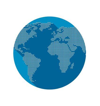 world globe: Vector illustration of abstract digital world globe
