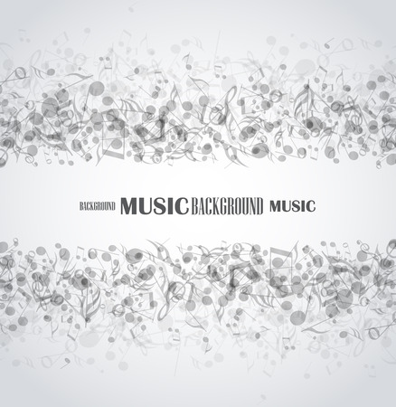 抽象的な音楽の背景のベクトル図