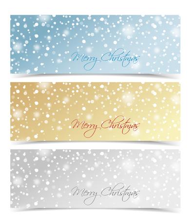 christmas winter: Set of winter christmas banners Vector illustration Illustration