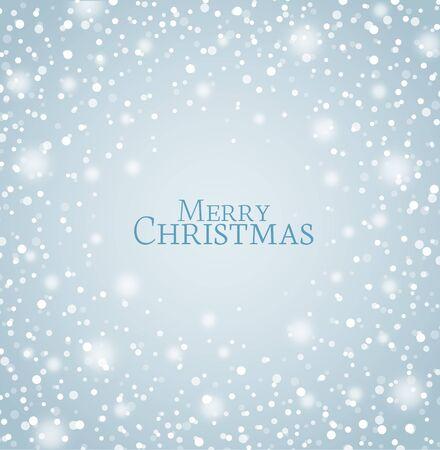 snowfall: Vector illustration of abstract Christmas snow background Illustration