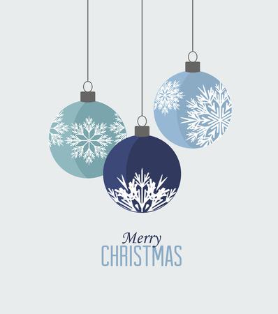 레트로 장식 크리스마스 공, 벡터 크리스마스 카드