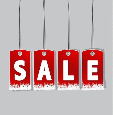 sale tags: Vector illustration sale tags for winter season Illustration