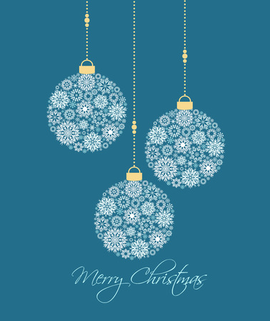 balls decorated: Christmas balls made from snowflakes vector illustration