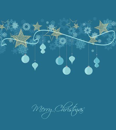 christmas stars: Vector background with Christmas ornaments, Christmas card