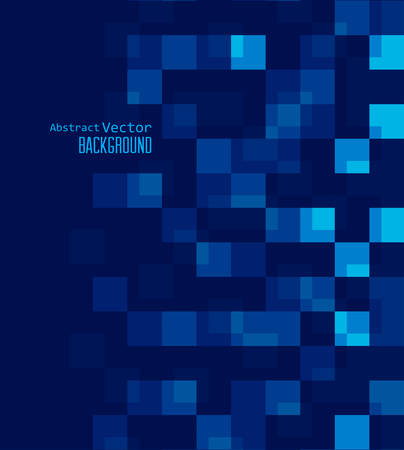 blue background abstract: Vector illustration abstract background with blue squares