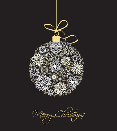 traditional background: Christmas balls made from snowflakes vector illustration