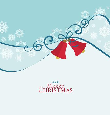 campanas de navidad: Vector de fondo con las campanas de Navidad, tarjeta de Navidad