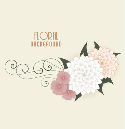 frame border: Vector Floral background, greeting cards with flowers Illustration