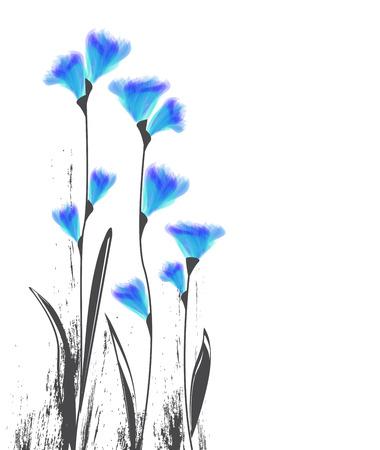 art flower: Vector illustration of flowers on a white background Illustration