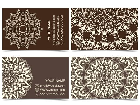 sided: Set of two sided business cards designs Illustration