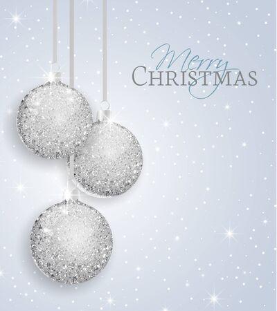 Vector Christmas balls on a gray background Vetores