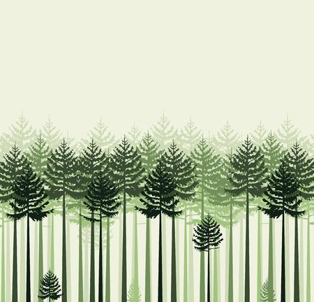 illustration background landscape with trees. Forest Stock Illustratie