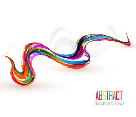 rainbow background: illustration of abstract artistic colorful wave background Illustration