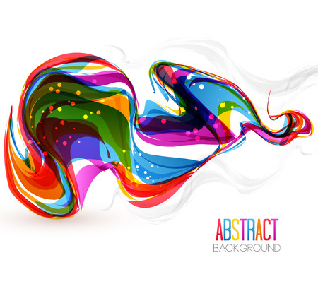 vivid colors: Vector illustration of abstract artistic colorful wave background Illustration