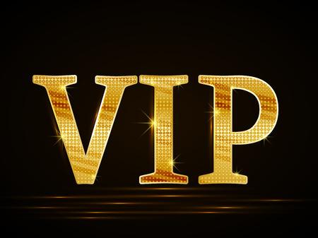 premium member: Vector black background of golden text VIP