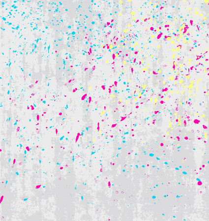 grungy header: Vector splatters on a gray background, texture dirty background