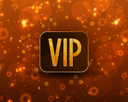 gift card: Vector illustration sparkly background with text VIP Illustration