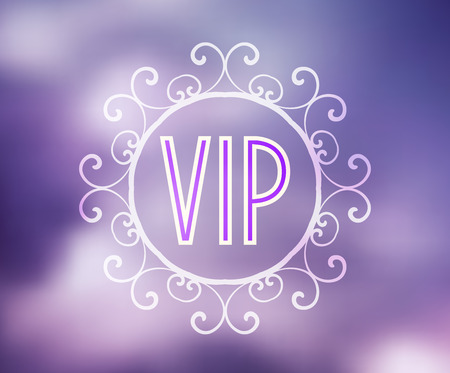privilege: Vector illustration night sky background with text VIP Illustration