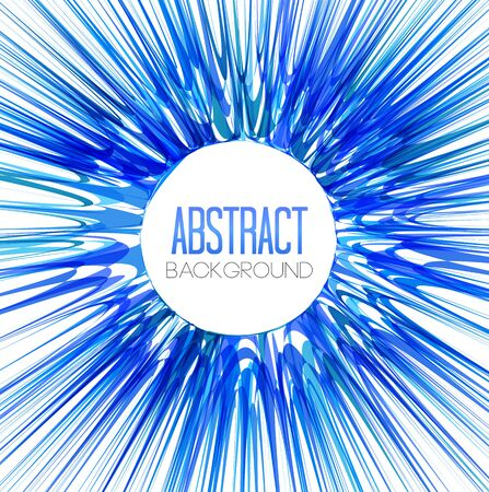 Vector blue abstract beams, an explosion in a rainbow of colors Illustration
