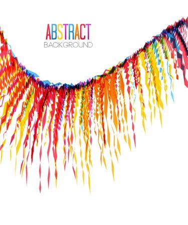 Ilustración de vector de un fondo de fiesta colorido con confeti para su texto