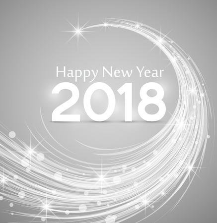 Guten Rutsch ins Neue Jahr 2018 Illustration Hintergrund Weihnachten