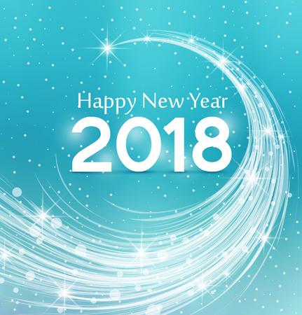 Happy New Year 2018, illustration Christmas background