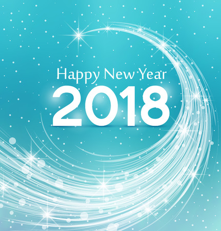 Happy New Year 2018, illustration Christmas background Фото со стока - 64990855