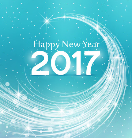 Happy New Year 2017, illustration Christmas background
