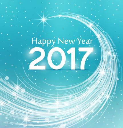 new year frame: Happy New Year 2017, illustration Christmas background