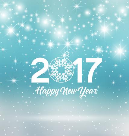 new year: Szczęśliwego Nowego Roku 2017, ilustracji Boże Narodzenie