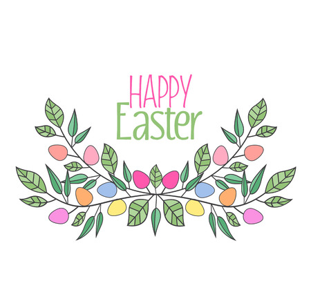 postcard: Vector Easter eggs