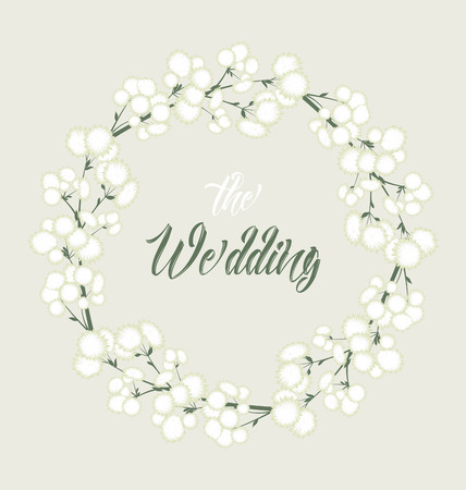 Vector white flowers Illustration