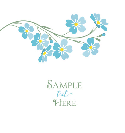 Vector blue forget me not flowers
