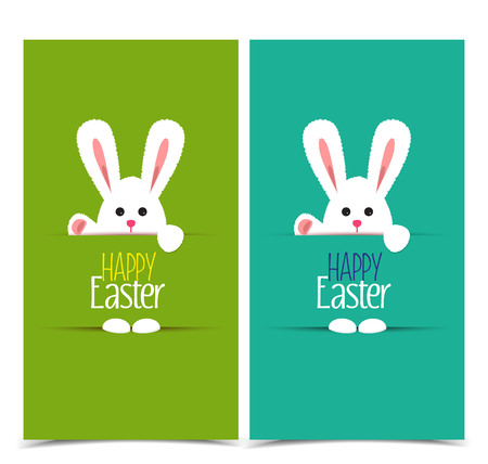 humor: Vector Easter bunny