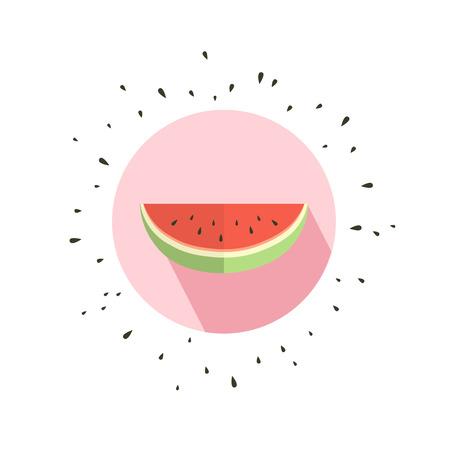 vintage postcard: Hello summer card with melon Illustration