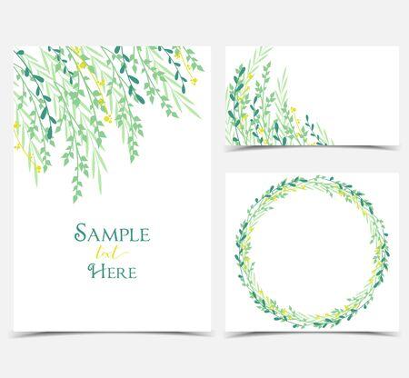 나뭇 가지와 나뭇잎의 장식. 스톡 콘텐츠 - 74633610