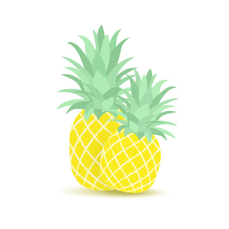 colors: Tropical fruit pineapple