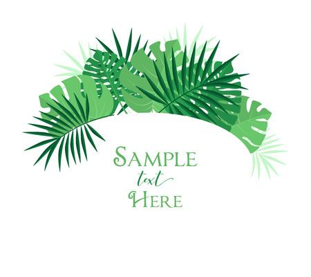 Palm leaf decoration Illustration