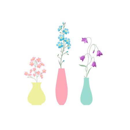 Vaas met bloemen Vector Illustratie