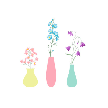 Vase of flowers 向量圖像