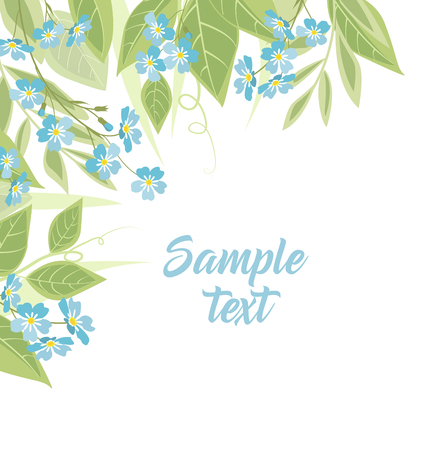 forget me not: Vector blue forget me not flowers