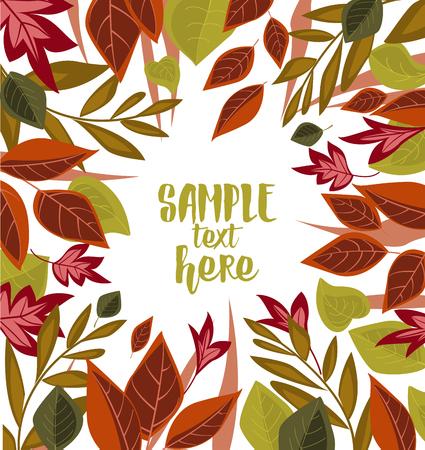 Vector autumn leaves Vector Illustration