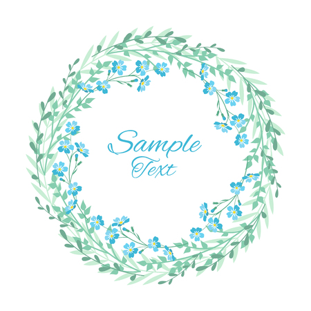 Vector Blue forget me not flowers Illustration