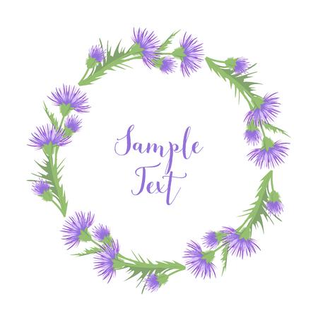 celebration background: Thistle with leaves Illustration