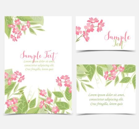 creative: Backgrounds with pink flowers