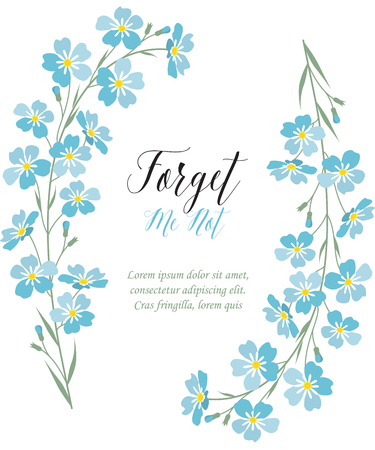 celebration background: Vector blue forget me not flowers